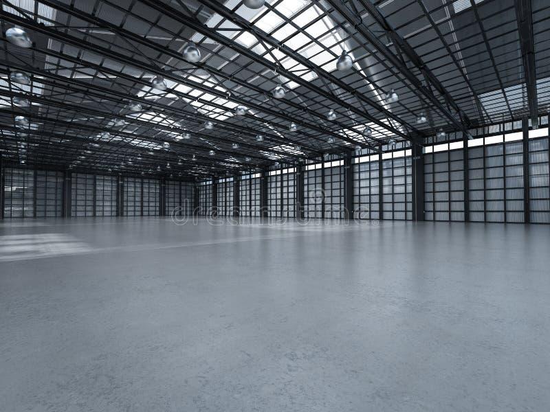 пустой интерьер фабрики стоковое изображение