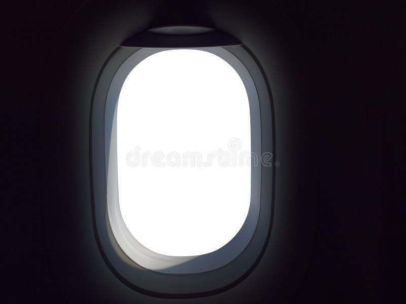 Пустой иллюминатор самолета стоковые изображения