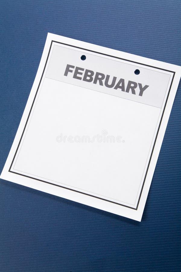пустой календар стоковое изображение