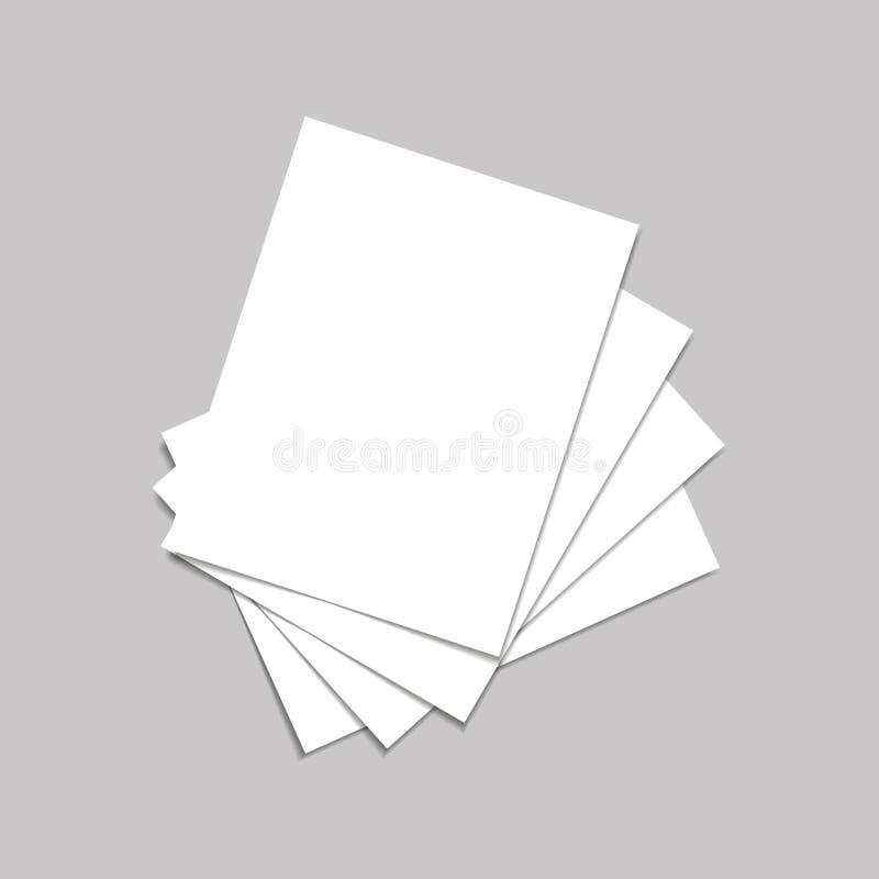 Пустой каталог, кассеты, насмешка книги вверх на серой предпосылке также вектор иллюстрации притяжки corel иллюстрация штока