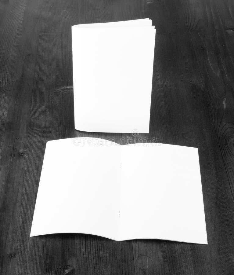 Пустой каталог, брошюра, насмешка книги вверх стоковые изображения rf