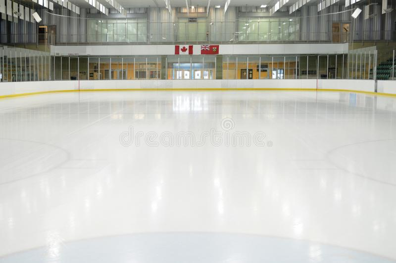 Пустой каток хоккея стоковое фото