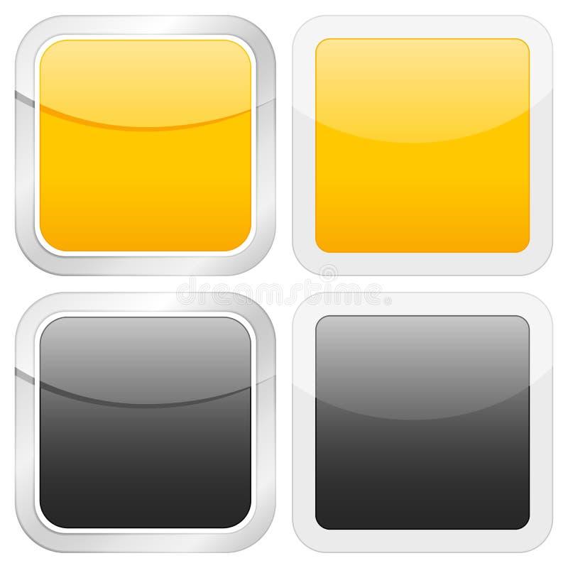 пустой квадрат иконы бесплатная иллюстрация