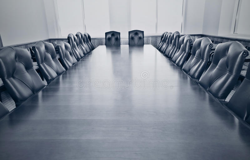 Пустой конференц-зал стоковая фотография