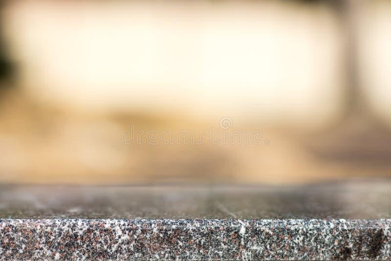 Пустой космос на верхней части, основание камень гранита стоковое фото