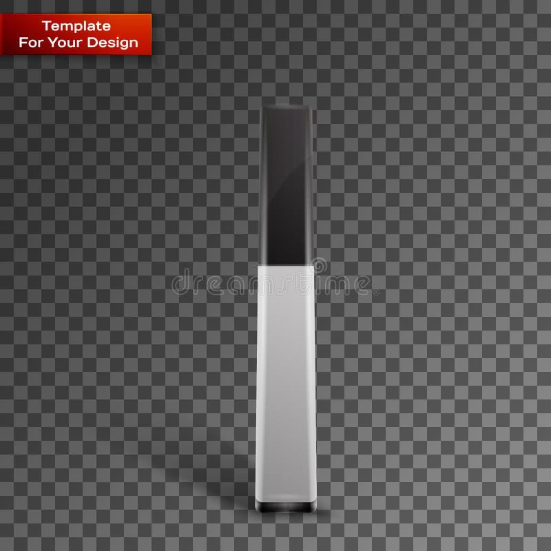 Пустой красивый лоск для губ на прозрачном бесплатная иллюстрация