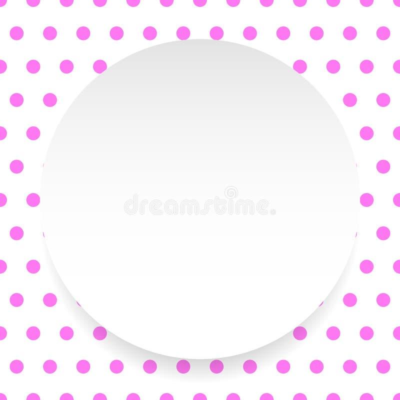 Download Пустой круг, лист, диск над картиной Polkadot/предпосылкой Иллюстрация вектора - иллюстрации насчитывающей бумага, repeatable: 81812279