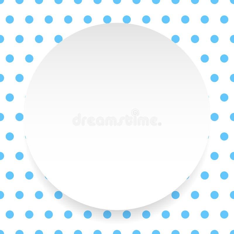 Download Пустой круг, лист, диск над картиной Polkadot/предпосылкой Иллюстрация вектора - иллюстрации насчитывающей сторонника, royalty: 81812282