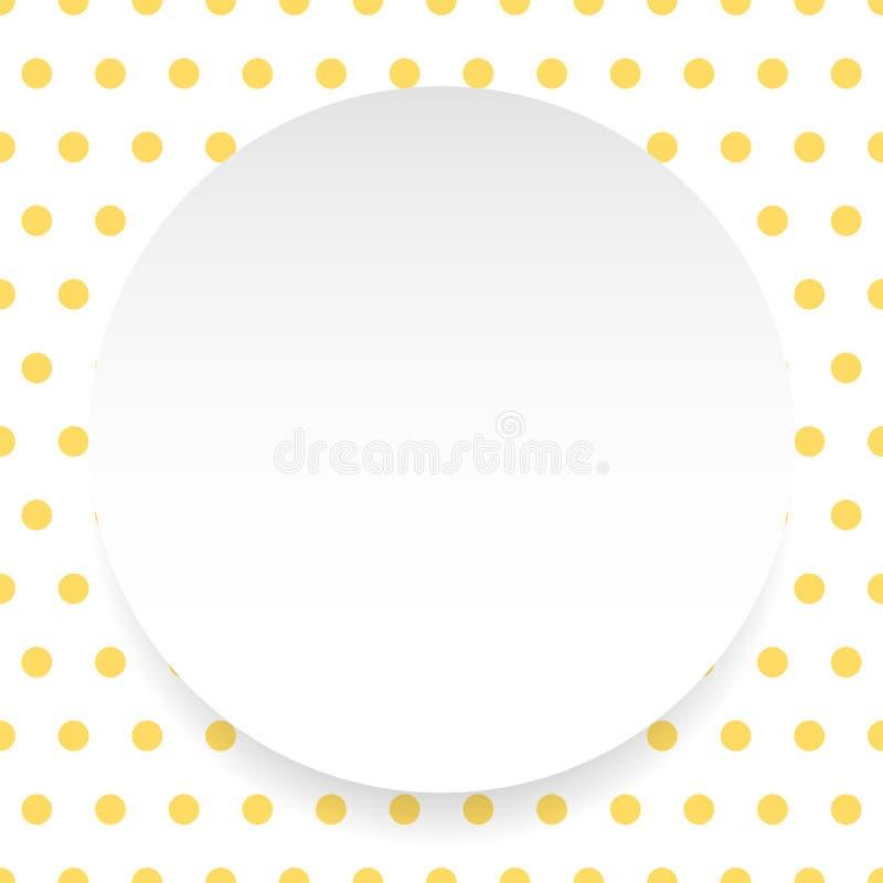 Download Пустой круг, лист, диск над картиной Polkadot/предпосылкой Иллюстрация вектора - иллюстрации насчитывающей кнопка, badged: 81812284