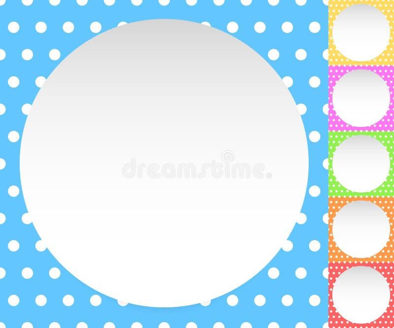 Download Пустой круг, лист, диск над картиной Polkadot/предпосылкой Иллюстрация вектора - иллюстрации насчитывающей конспектов, кнопка: 81812302