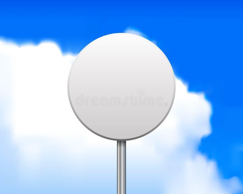 Пустой круглый дорожный знак иллюстрация вектора