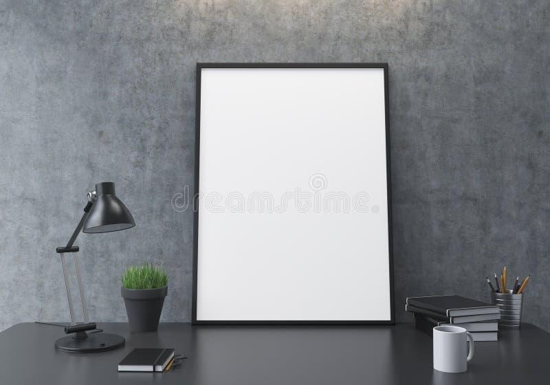 Пустой крупный план рамки иллюстрация штока