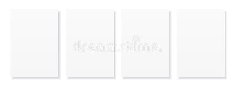 Пустой лист A4 белой бумаги с тенью, шаблоном для вашего дизайна r r бесплатная иллюстрация