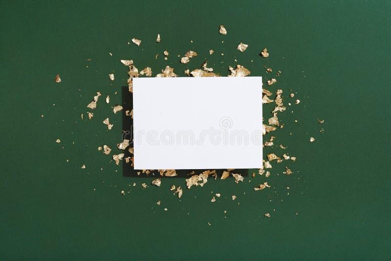 Пустой модель-макет рождественской открытки стоковая фотография rf