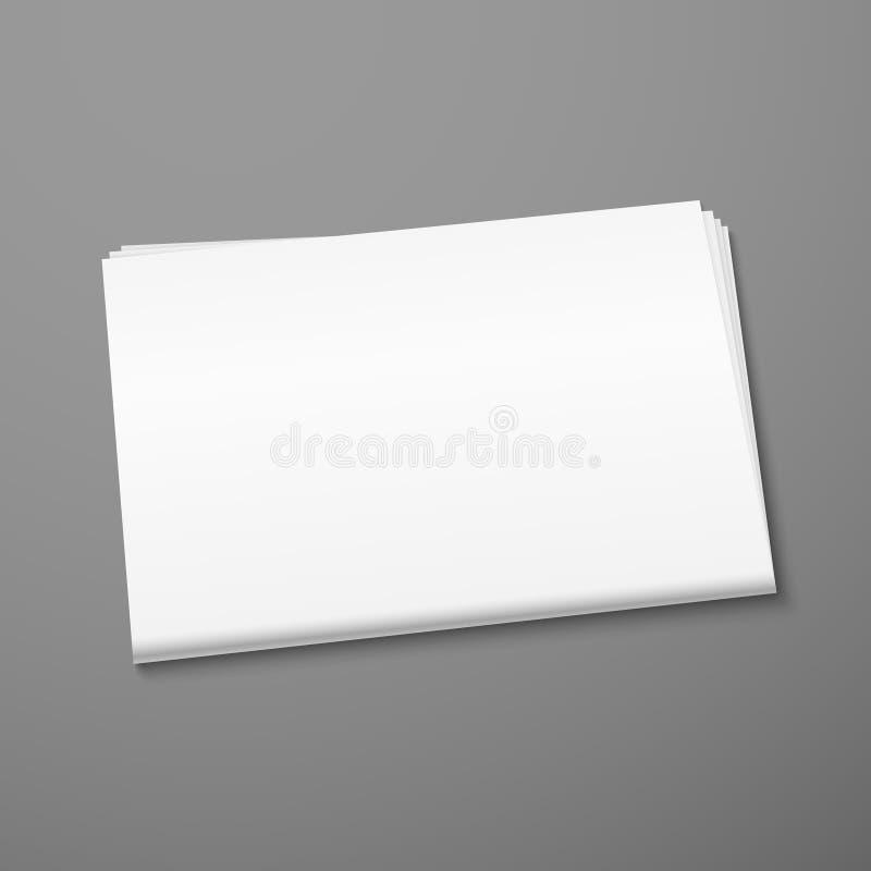 Пустой модель-макет газеты иллюстрация штока