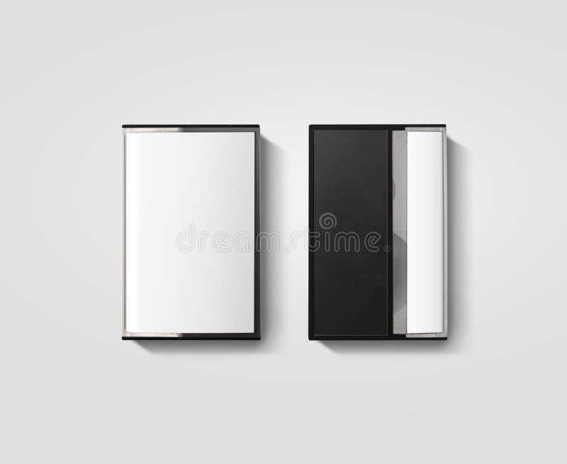 Пустой модель-макет дизайна коробки кассеты, задний взгляд со стороны стоковая фотография rf