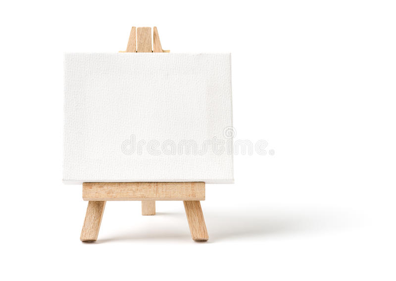 пустой мольберт холстины стоковое изображение