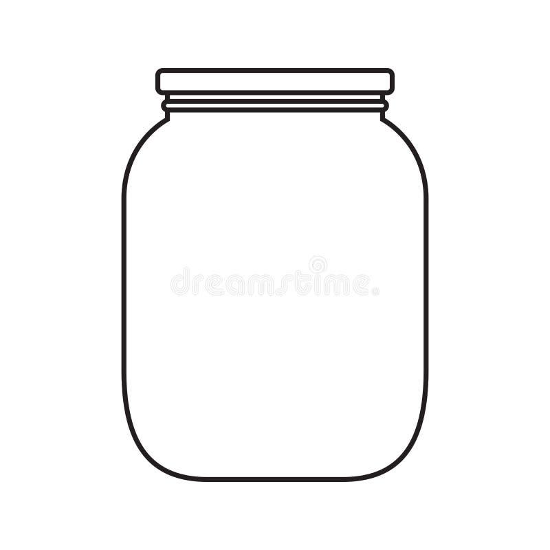 Пустой опарник с крышкой бесплатная иллюстрация