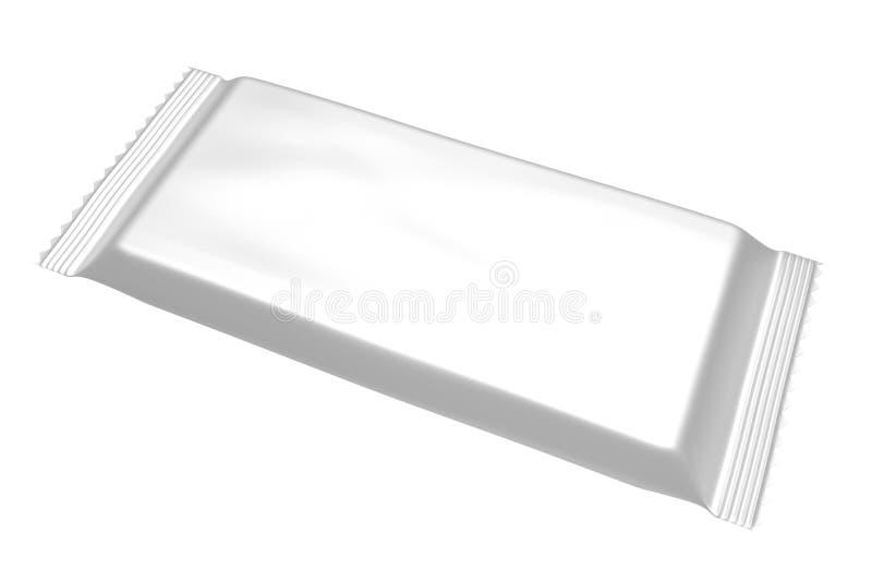 Пустой пакет шаблона для малых закуски, шоколада или конфеты Пластичный пакет бесплатная иллюстрация