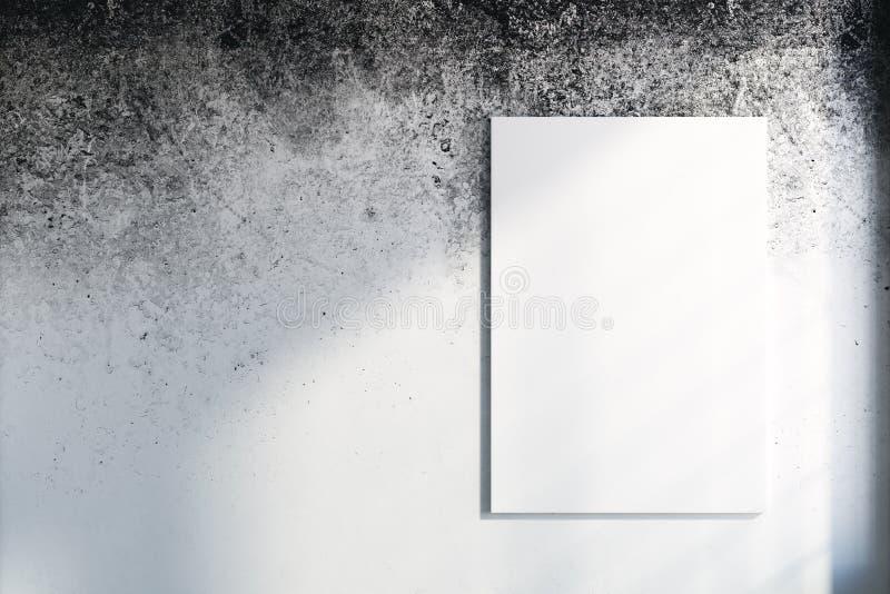 Пустой плакат на стене бесплатная иллюстрация