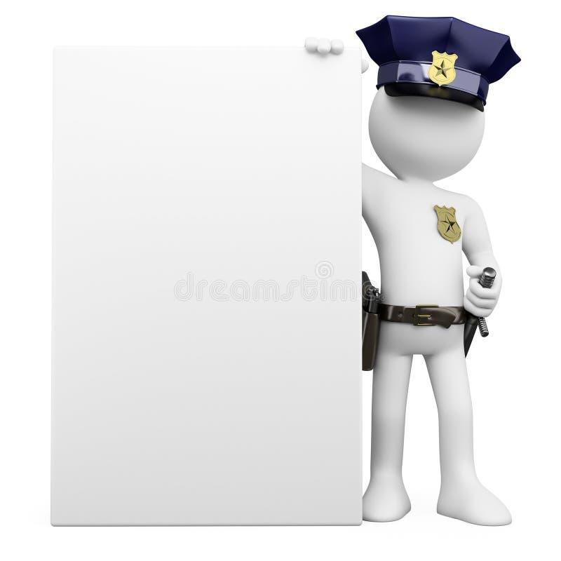 пустой плакат полиций 3d иллюстрация штока