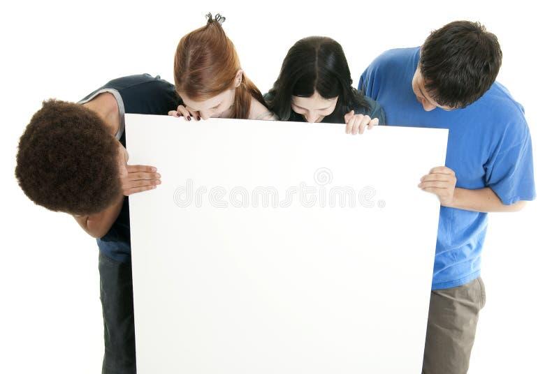 пустой подросток знака стоковые фото