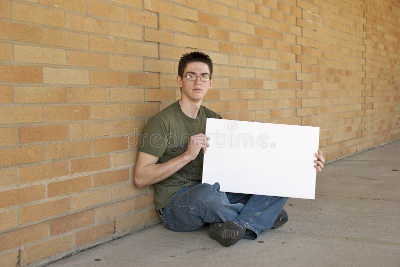 пустой подросток знака стоковая фотография