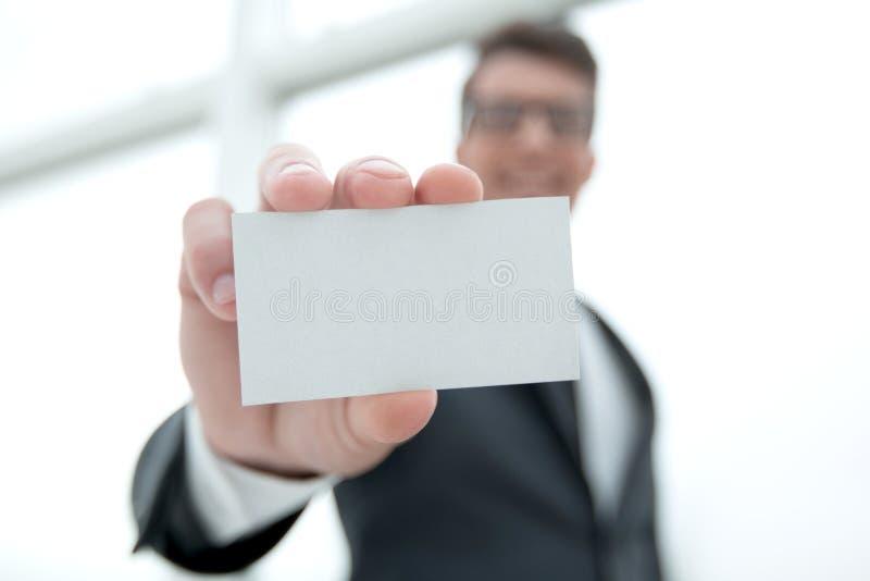 пустой показ карточки бизнесмена дела стоковые фото