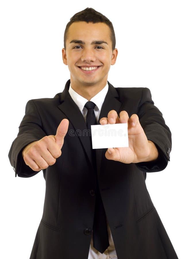 пустой показ человека визитной карточки стоковые изображения