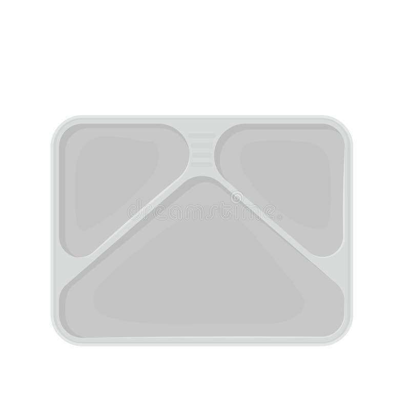 Пустой поднос обедающего ТВ иллюстрация вектора