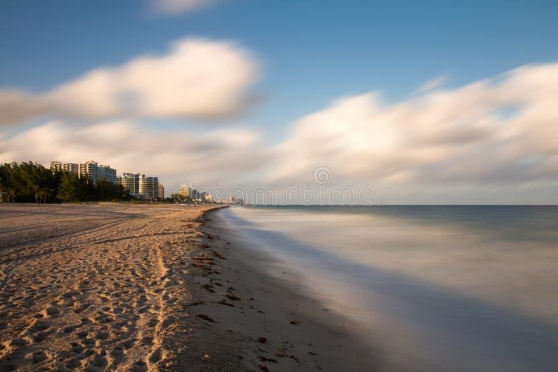 Пустой пляж на Fort Lauderdale стоковые изображения