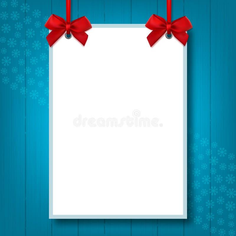Пустой размер пробела A4, насмешка вверх по плакату, рождество праздника модель-макета иллюстрация штока
