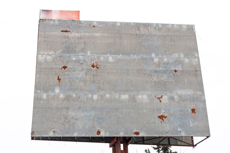 Пустой, ржавый конец афиши вверх по съемке стоковые фотографии rf