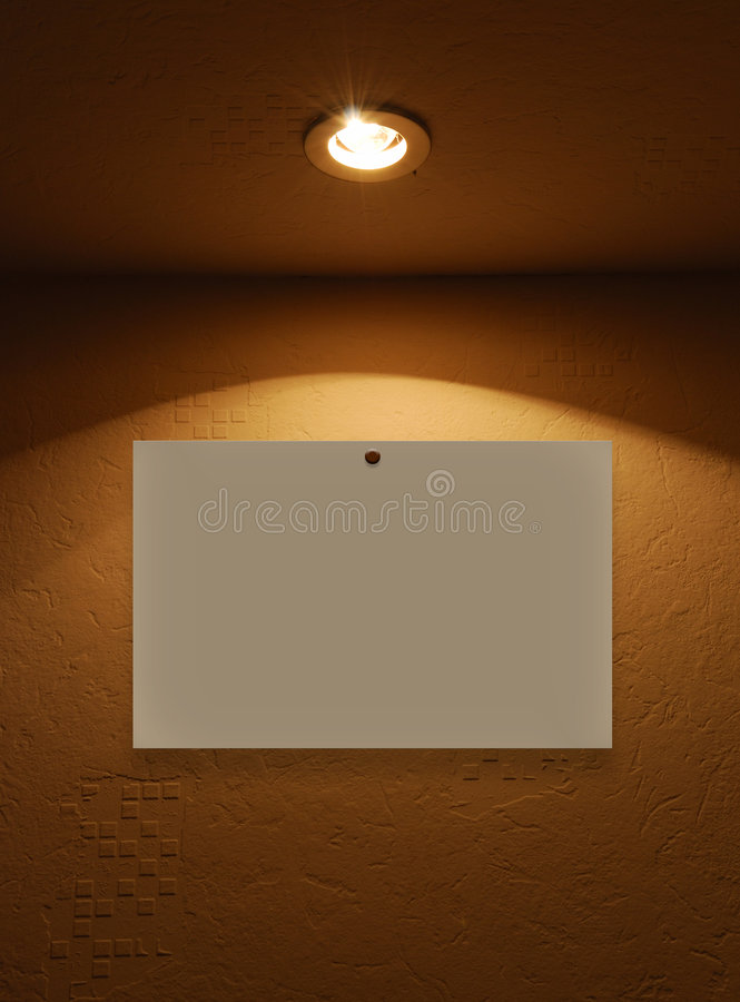 пустой свет светильника стоковые изображения rf
