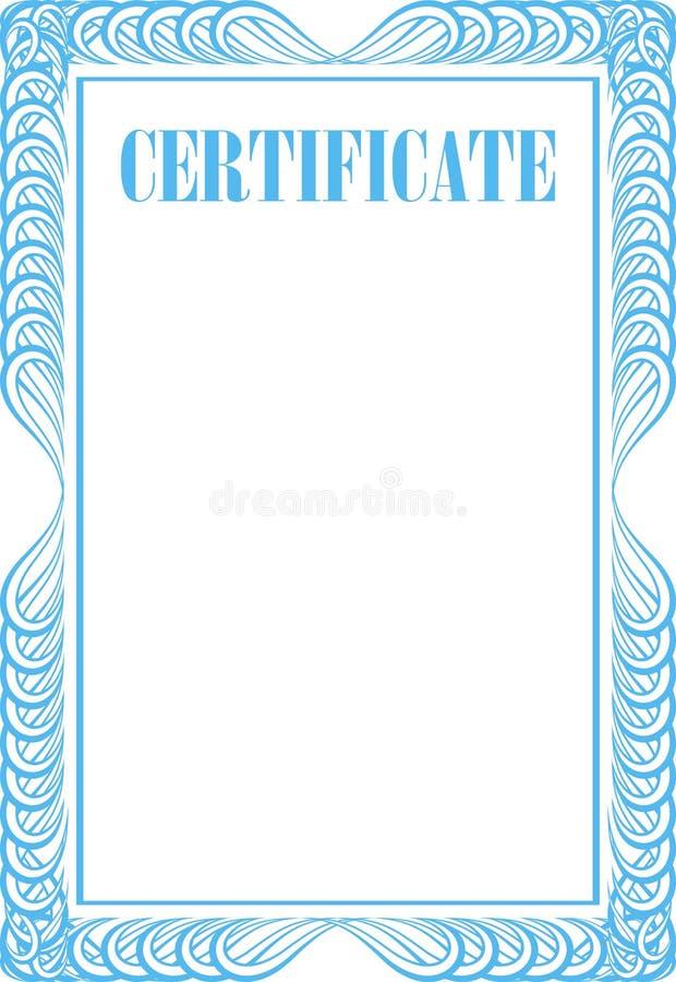 Пустой сертификат иллюстрация вектора
