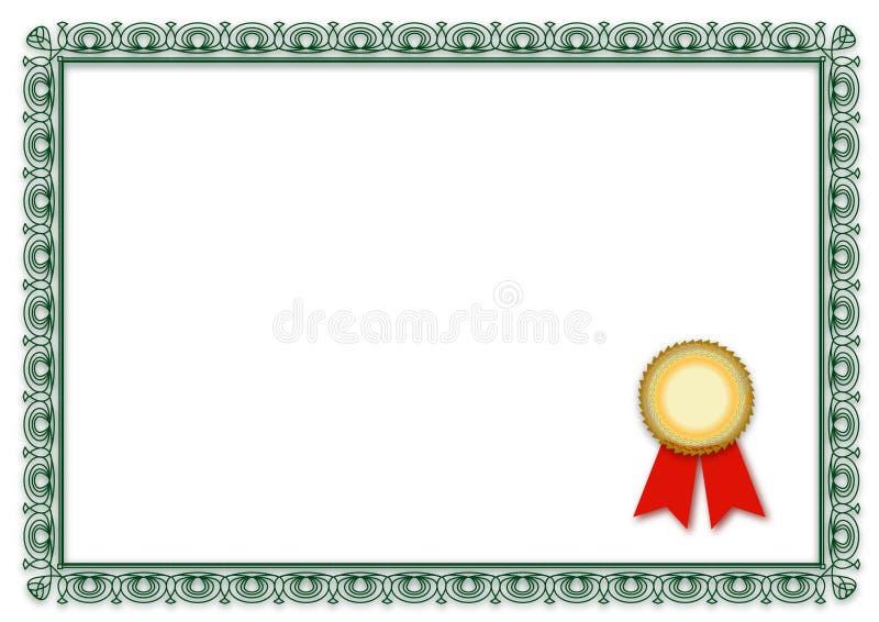 пустой сертификат иллюстрация штока