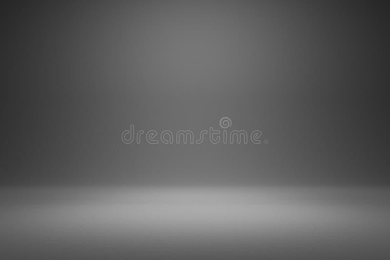 Пустой серый фон и прожекторный свет в студии для показа или дизайна Пустой фон, изготовленный из цементного материала Реалистичн бесплатная иллюстрация