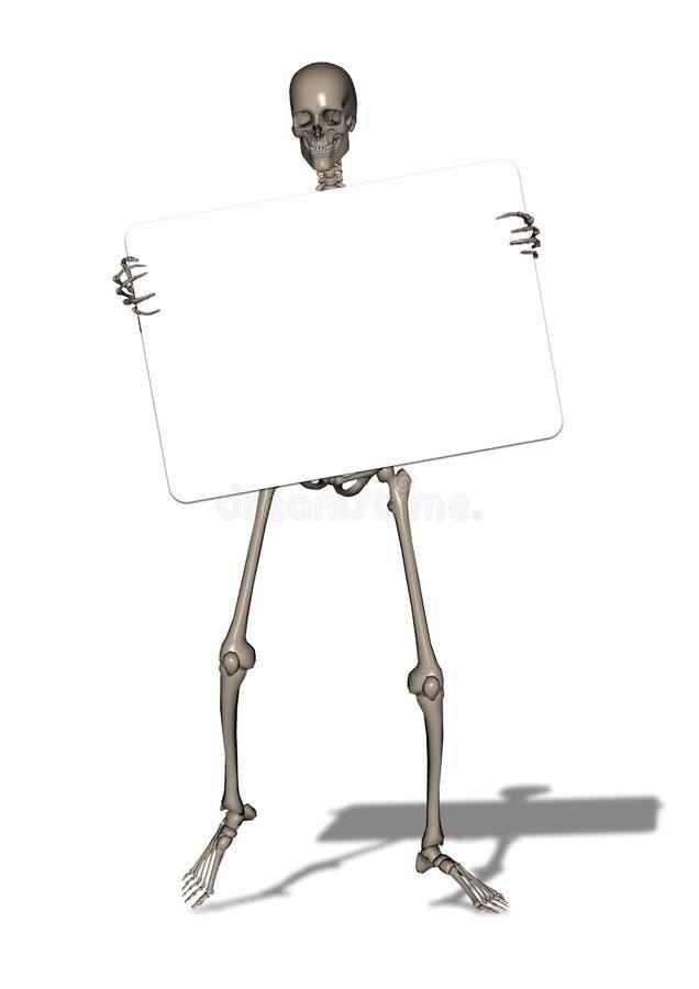 пустой скелет знака удерживания бесплатная иллюстрация