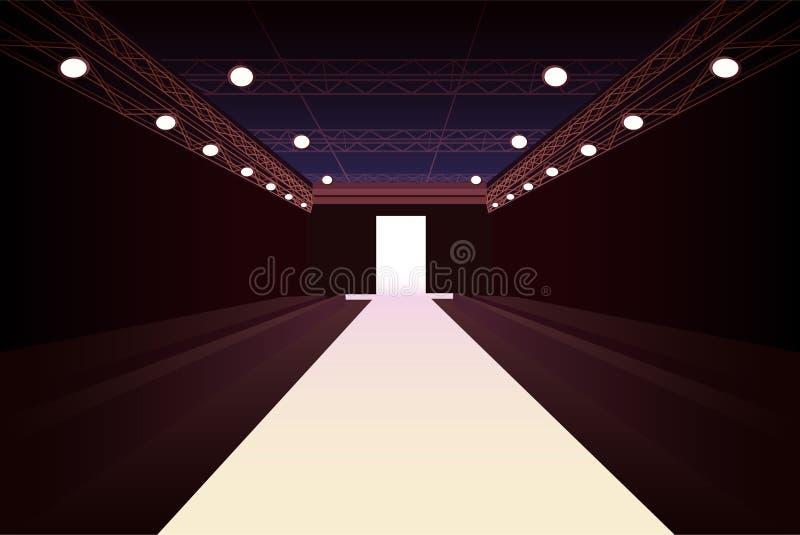 пустой способ освещает модельный подиум иллюстрация штока