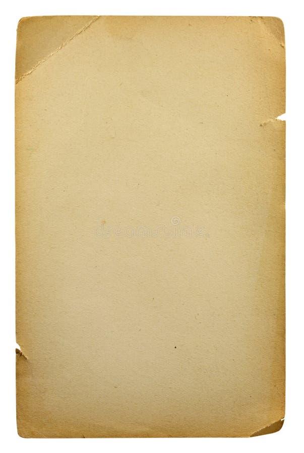 пустой старый бумажный лист стоковое изображение rf