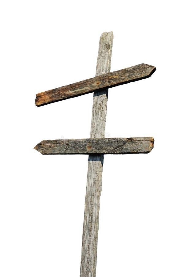 пустой старый знак столба деревянный стоковая фотография rf
