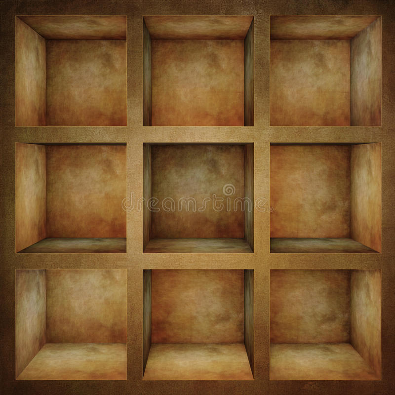 пустой старый шкаф иллюстрация вектора