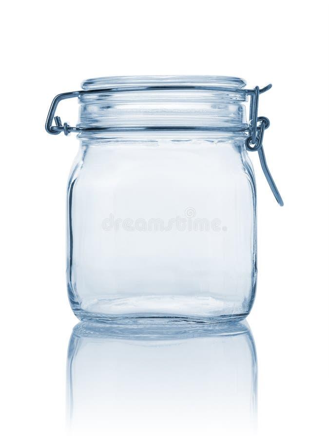 пустой стеклянный опарник стоковая фотография rf