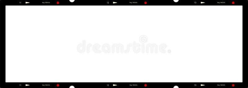 Пустой супер недостаток фото панорамы, картинная рамка, космос экземпляра иллюстрация вектора
