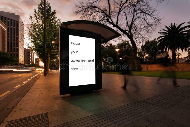 Пустой укрытие для наружной рекламы стоковое фото rf