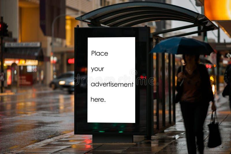 Пустой укрытие для наружной рекламы стоковые изображения