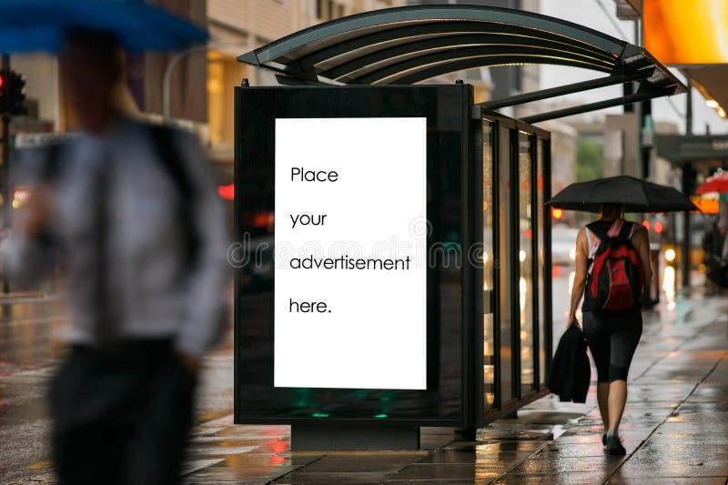 Пустой укрытие для наружной рекламы стоковая фотография rf