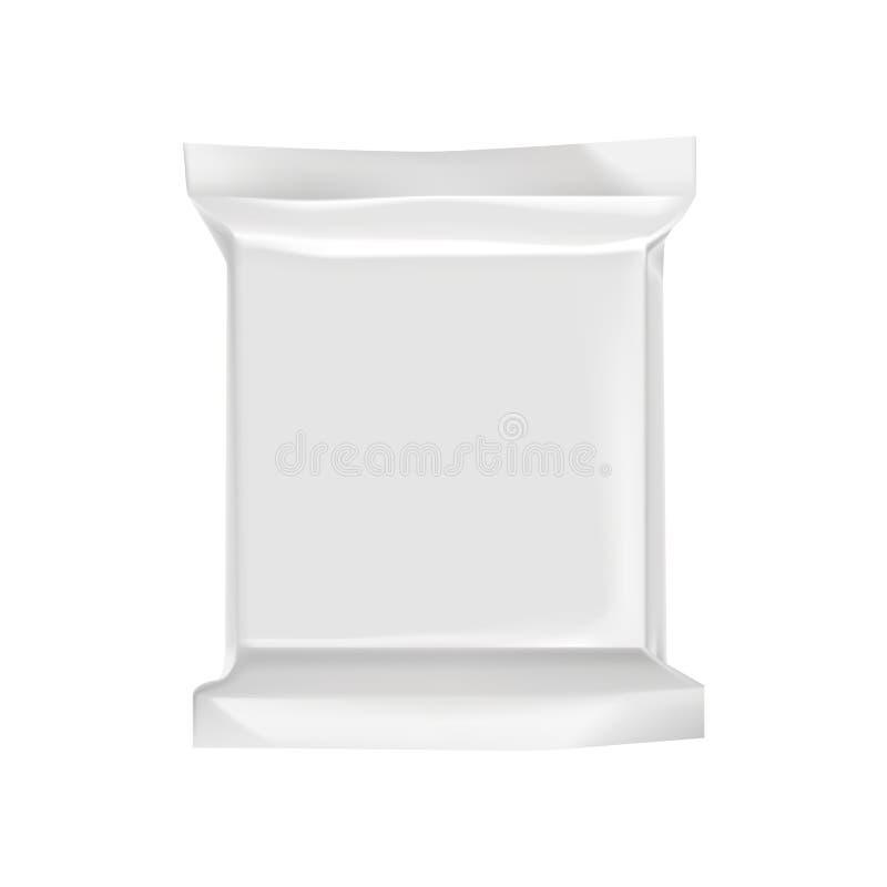 Пустой упаковывая модель-макет шаблона изолированный на белизне иллюстрация штока