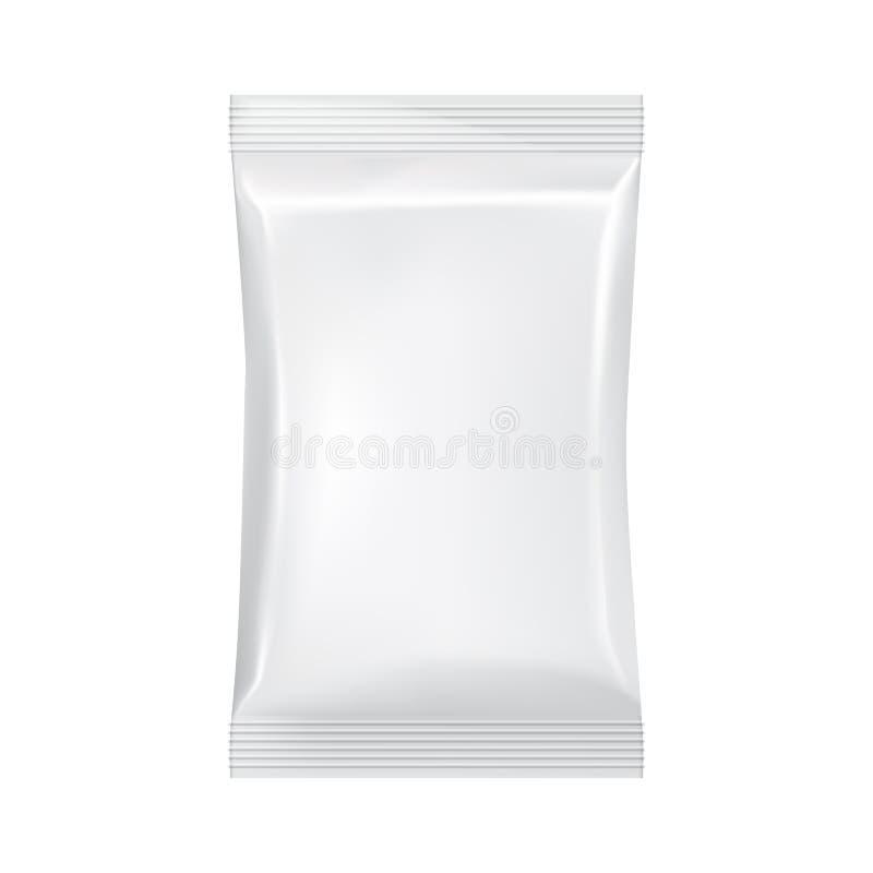 Пустой упаковывая модель-макет шаблона изолированный на белизне бесплатная иллюстрация