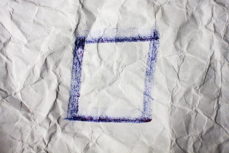 Пустой флажок стоковая фотография rf
